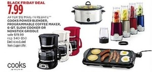 Cooks Programmable Coffee Maker (After Rebate)