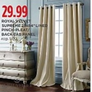 Royal Velvet Supreme Lined Pinch Pleat or Back Tab Curtains