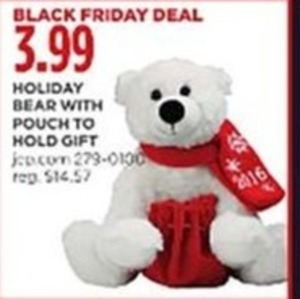 Holiday Bear w/ Pouch to Hold Gift