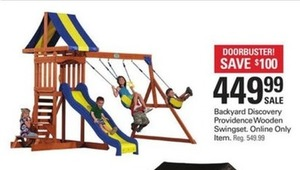 Backyard Discovery Providence Wooden Swingset