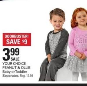 Peanut & Ollie Baby or Toddler Separates