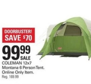 Coleman 12x7' Montana 6 Person Tent