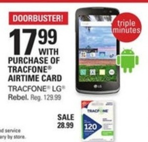 Tracfone LG Rebel (With Purchse of Tracfone Airtime Card)