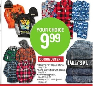 Baileys Pt. Flannel Shirts, Long Sleeves Tees, Sleepwear and Jeans