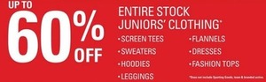 Entire Stock Juniors Clothing