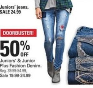 Juniors and Junior Plus Fashion Denim