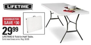 Lifetime 6' Fold-in-Half Table