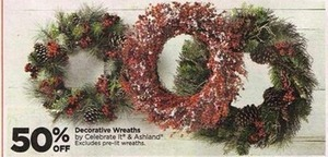 50% Decorative Wreaths