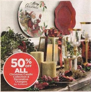 All Ashland Christmas Candle Collection & Decorative Chargers