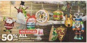 all collectible ornamentscelebrate it - 50% off at michaels on