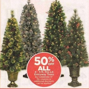 All 4-5 ft. Pre-Lit Entryway Trees by Celebrate It