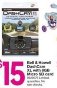 Bell & Howell DashCam XL w/ 8GB Micro SD Card