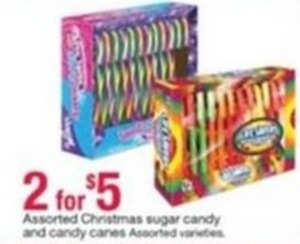 Assorted Christmas Sugar Candy and Candy Canes