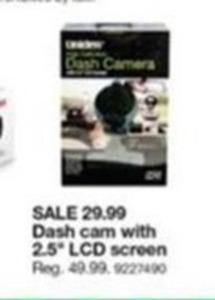 "Dash Cam w/ 2.5"" LCD Screen"