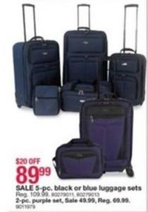 2-Pc. Purple Luggage Set