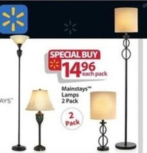 Mainstay Lamps 2 pk