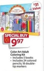 Color Art Adult Coloring Kit