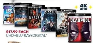 Select UHD+Blu-ray+Digital Movies