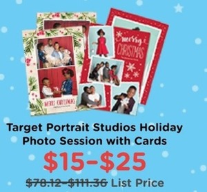 Target Portrait Studios Holiday Photo Session w/ Cards