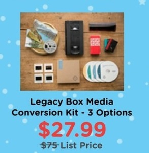 Legacy Box Media Conversion Kit - 3 Options