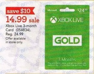 Xbox Live 3-month Card