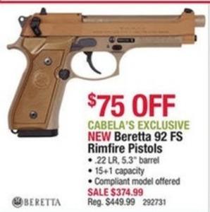 Beretta 92 FS Rimfire Pistol