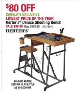Herter's Deluxe Shooting Bench Herter's Deluxe Shooting Bench
