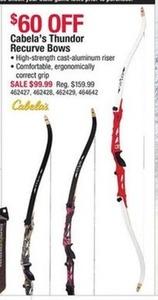 Cabela's Thundor Recurve Bows