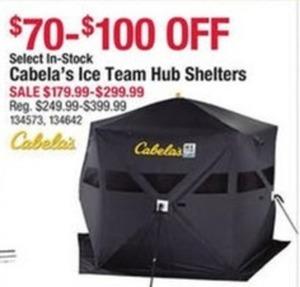 Cabela's Ice Team Hub Shelters