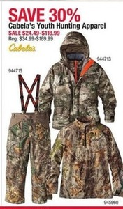 Cabela's Youth Hunting Apparel