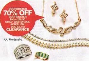 Clearance Fine Jewelry