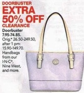 Clearance Handbags by I-N-C, Nine West & More