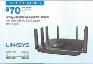 Linksys AC5400 Tri-band WiFi Router