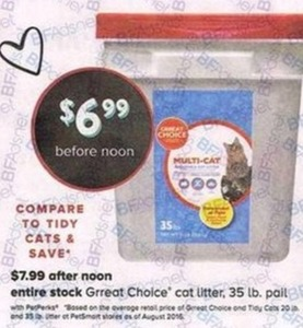 Entire Stock of Great Choice Cat Litter