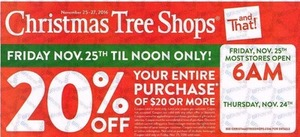 Christmas Tree Shops Black Friday Ad Available!