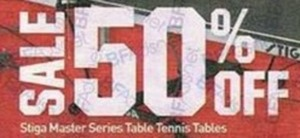 Stiga Master Series Table Tennis Tables