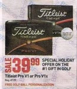 Titleist Pro V1 or Pro V1x with Free Golf Ball Personalization