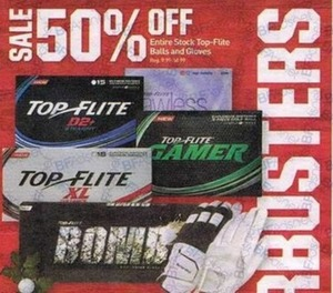 Entire Stock of Top-Flite Balls and Gloves
