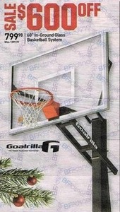 "Goalrilla 60"" In-Ground Glass Basketball System"