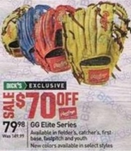 Rawlings GG Elite Series Fielders, Catchers, First Base, Fastpitch Or Youth Glove