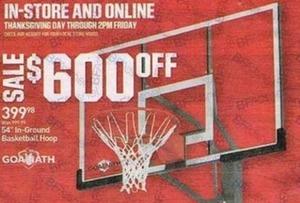 """54"""" In Ground Basketball Hoop"""