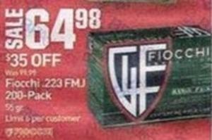 Fiocchi .223 FMJ 200-Pack