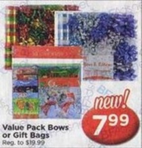 Value Pack Bows or Gift Bags