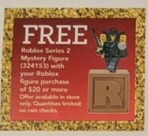 Roblox Series 2 Mystery Figure w/$20+ Purchase