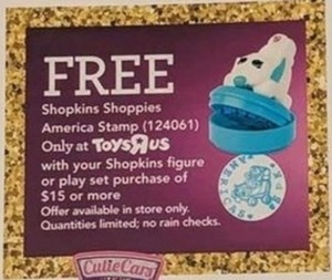 Shopkins Shoppies America Stamp w/Shopkins $15 Purchase