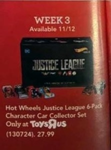 Hot Wheels Justice League 6-Pack Character Car Collector Set