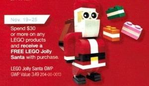 Free Lego Jolly Santa w/ $30 Lego Product Purchase