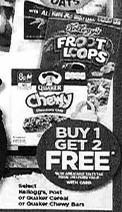Select Kellogg's, Post or Quaker Cereal or Chewy Bars