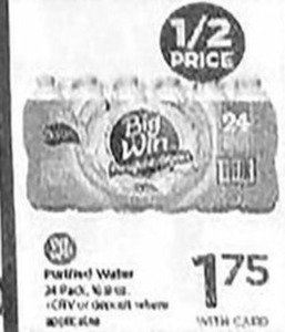Big Win Purified Water 24 Pack