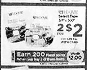 Tape Rolls + $2 PP